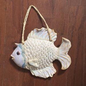 Fish hanging glass decor